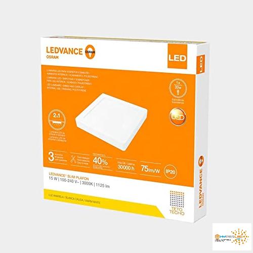 PANEL LED SLIM 15W 3000K LUZ CALIDA LEDVANCE